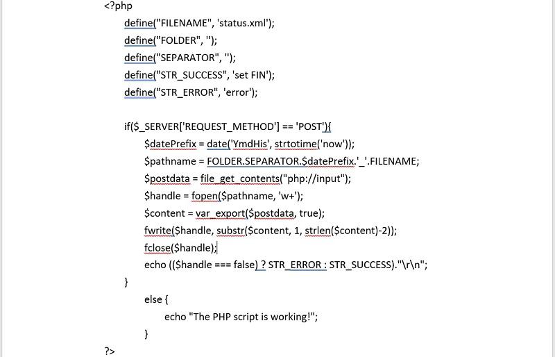 postloop.php file for HTTP server based on TC Monitor