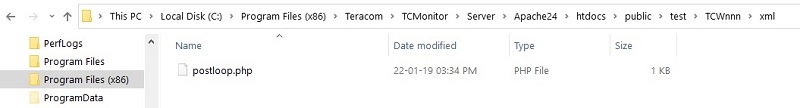file directory for HTTP server based on TC Monitor