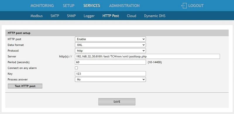 TCW/TCG device setup for HTTP server based on TC Monitor